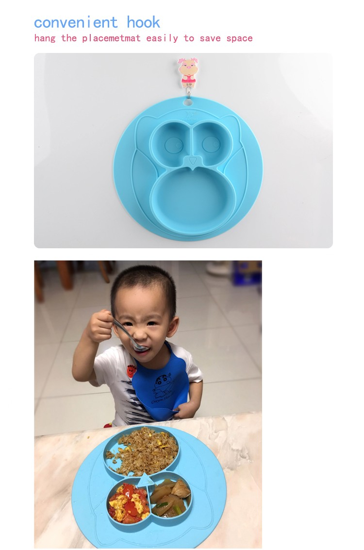 100% Food Grade Silicone Placemat for Kids Baby Feeding Mat