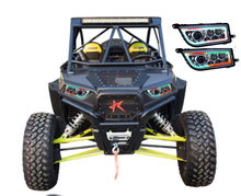 ATV UTV rgb LED Headlight Accessories Polaris RZR 1000 XP Parts headlights with angle eye for RZR XP 4 TURBO