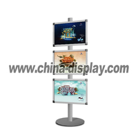 good quality cardboard poster display stand 2-sided sign holder
