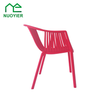 Unique Design Comfortable Plastic Stackable Arm Chair