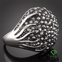 saudi White gold jewelry ring lord rings gold ring