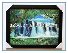 3d art frame of 3d waterfall picture