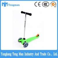 aluminum tube three wheels kids scooter kick scooter trike scooter