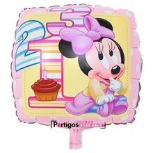 18 inche square cartoon mouse foil helium balloon for Children birthday of 2015 new design