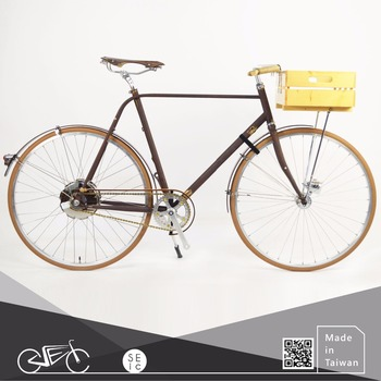 Taiwan 700C Bike Classic Vintage Rust Electric City Bicycle