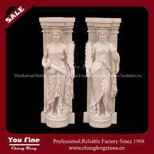 Romantic Carved Statue Stone Wedding Pillar