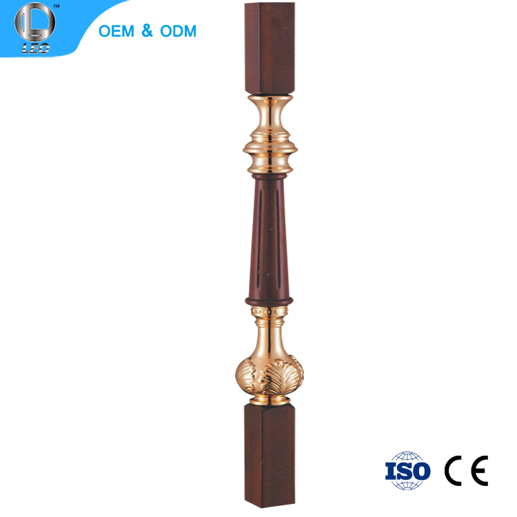 L-2140 Decorative Black Fancy Stair Newel Post/Wood Stair Handrail Parts Balusters
