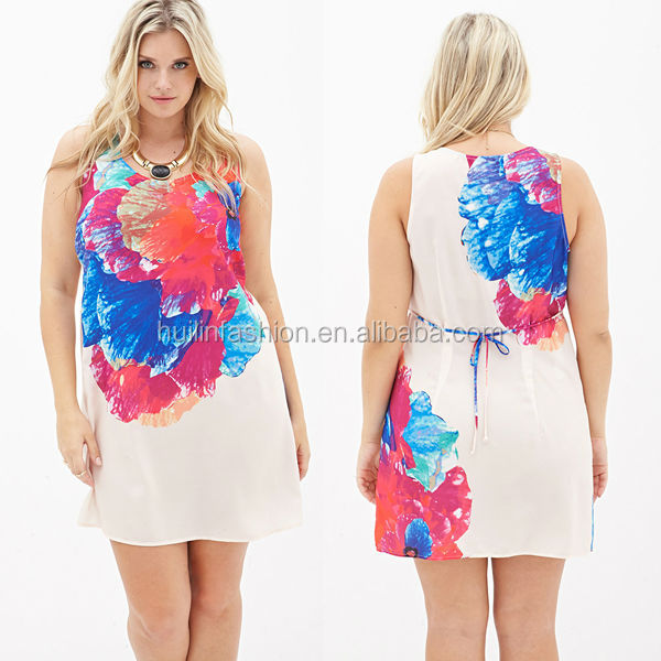 new 2014 fashion fat clothing mini dress wholesale plus size women clothing