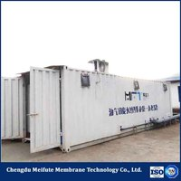 Gas field wastewater project show ro package treatment plant
