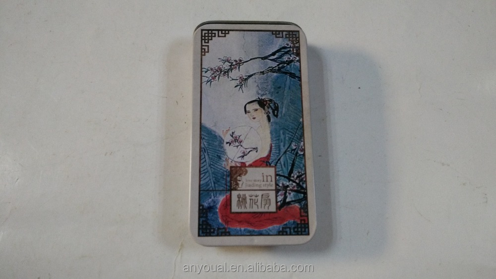Love story in Jiading style the Peach Blossom Fan small tin cans