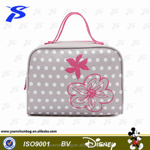 2016 lady Colorful practical folding tote toiletry bag for travel