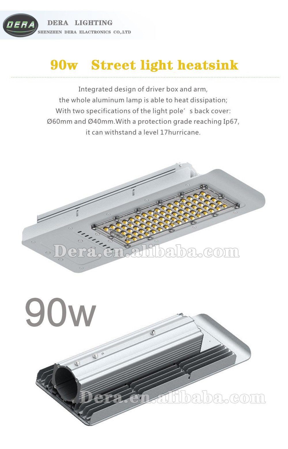 90w 90 watt led street light solar led street lights cob LED street lighting made in shenzhen factory
