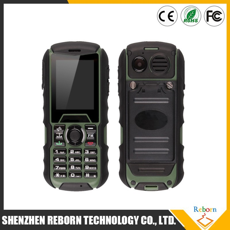 H1 Rugged Waterproof Cell Phone MTK6261A Rugged Dustproof Phone 1700mAh Shockproof Outdoor Phone Multi-Language