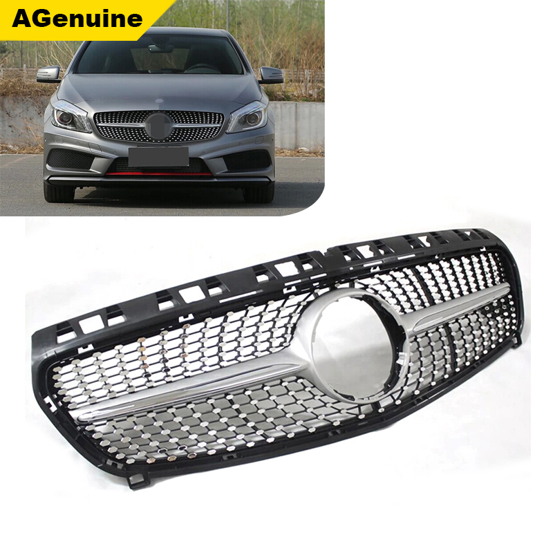 Custom color diamond car front bumper racing grille mesh grills radiator grill for Mercedes Benz CLA 180 200 250 260 45 <strong>W117</strong>