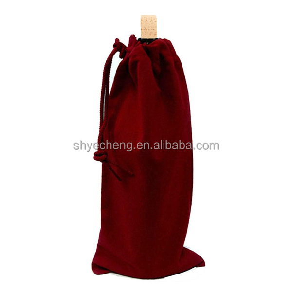 high quality custom cotton drawstring wine bags (YC1763)