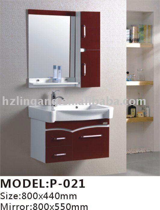 800x440mm Modern Pvc Bathroom Cabinets +mirror+washbasin+medicine ...