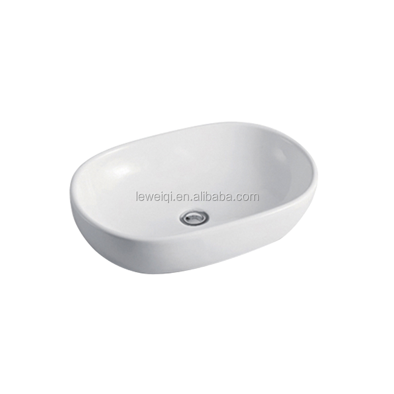 Y-602 New Design Countertop Washing Basins Oval Shape Bathroom Sink