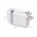 Dual USB Port 2.4A fast Output wall charger,Foldable EURO & USA Plug Travel charger for iPhone iPad Samsung LG HTC