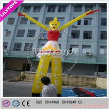 Beautiful girl cheap customized yellow cheap air dancer with CE
