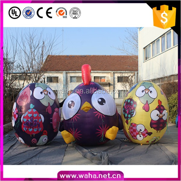 colorful inflatable chicken egg for easter decoration outdoor
