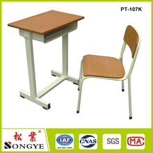Cheap School Desk and Chair Manufacturers Wooden School Furniture Price List Study Single Classroom Desk and Chair Attached