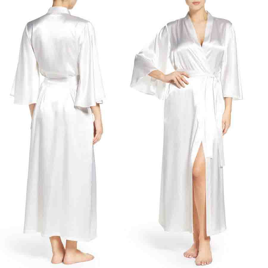 Satin Robes Women Home Women Sleep Lounge Robes Wholesale Custom Made in China Sleepwear