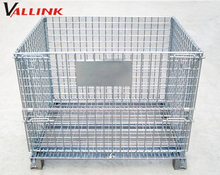 Silver Steel Cage Folding Storage Collapsible Bulk Containers