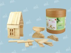 wood Giant Jenga and wooden building blocks for family game and outdoor game