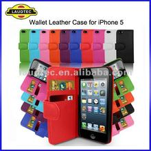 2011 NEW Slots Credit Cards Wallet Leather Flip Case for iPhone 5, Laudtec