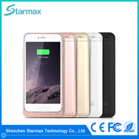 Fine texture smooth surface 8200mAh backup battery case for iphone 6s plus