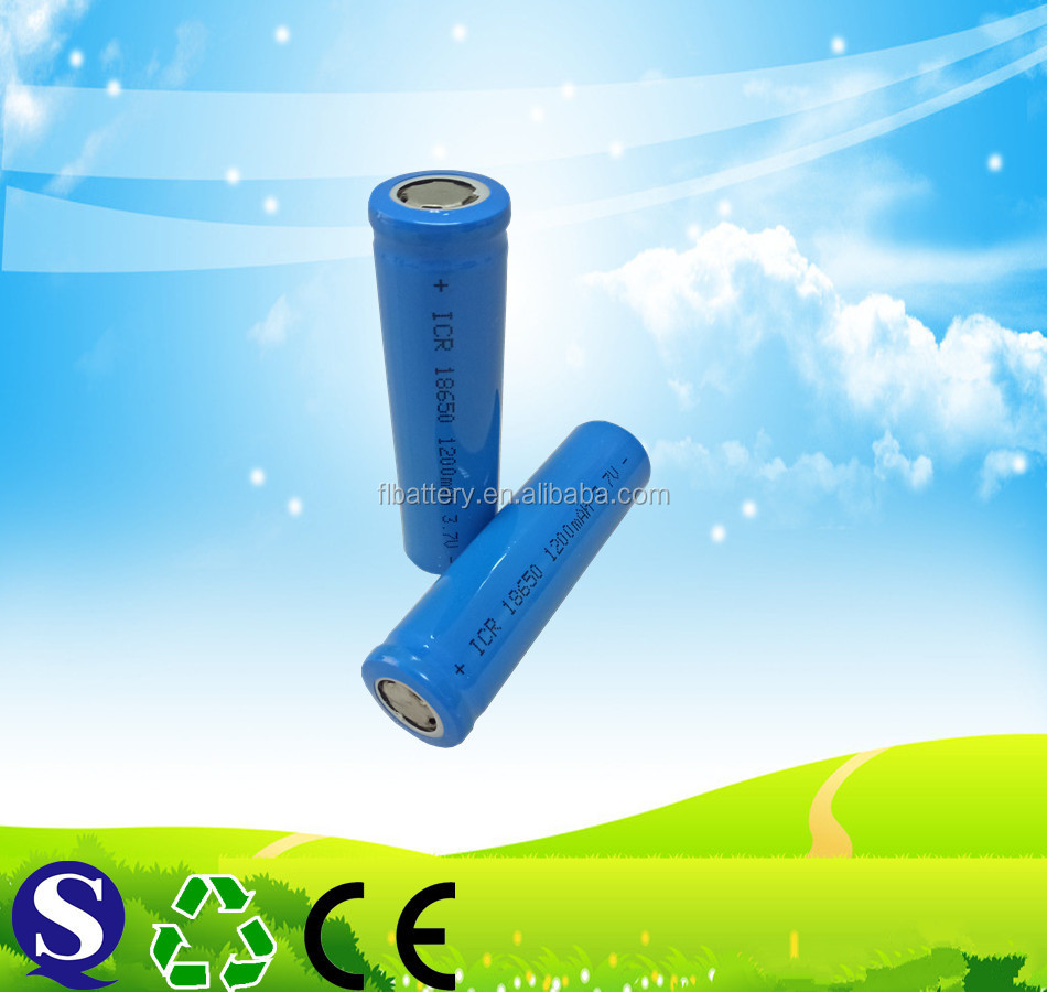 Rechargeable li-ion battery 3.7v 1200mah 18650 lithium ion battery for torch lights New and good price