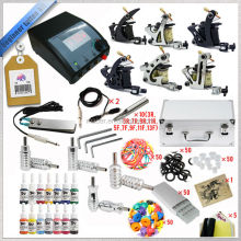 Professional starter training 6 tattoo machine set, tattoo machine kits for shading lining