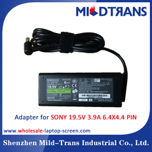 Manufacturer Laptop Charger AC Power Adapter for SONY 19.5V 3.9A 6.4x4.4mm