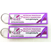 custom polyester woven keychain for promotion