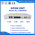 4GE+2FXS+WiFi+RF GPON CATV ONT Compatible with Huawei/ZTE/Fiberhome OLT for FTTH Triple Play Solution