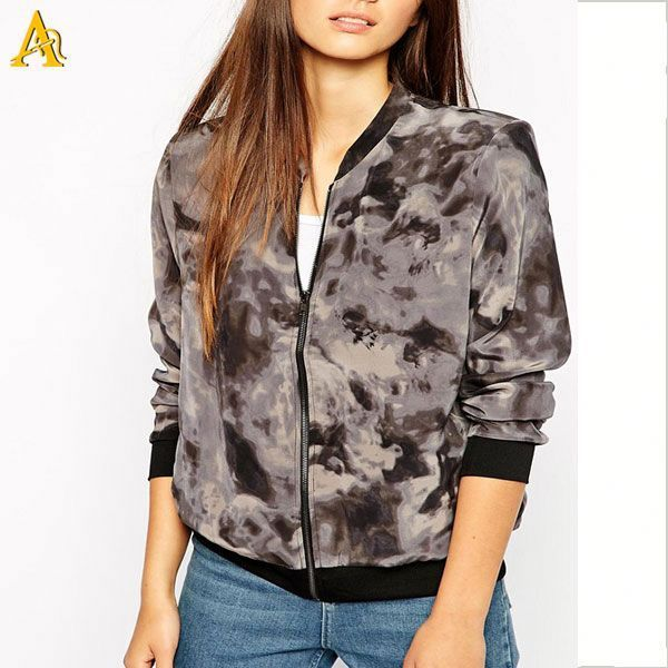 all over printing women camouflage jacket