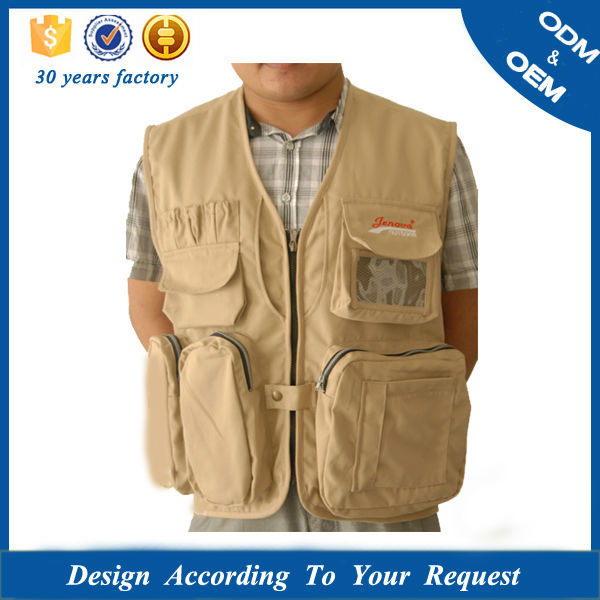 mens reflection patches work waistcoat adventure travelling photo vest