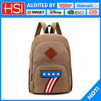 hot new products for 2016 star and No. severn printing custom canvas backpack