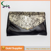 New trendy wholesale lady pu leather clutch evening bags