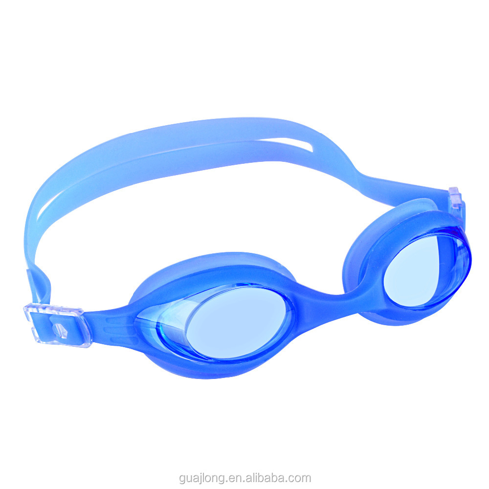 Adult one piece soft silicone nose belt prescription swimming goggles with diopter
