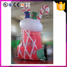 Custom made giant inflatable Christmas boots for decoration