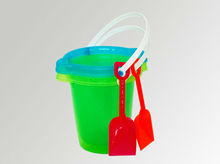 2013 hot 7 inch plastic beach sand buckets
