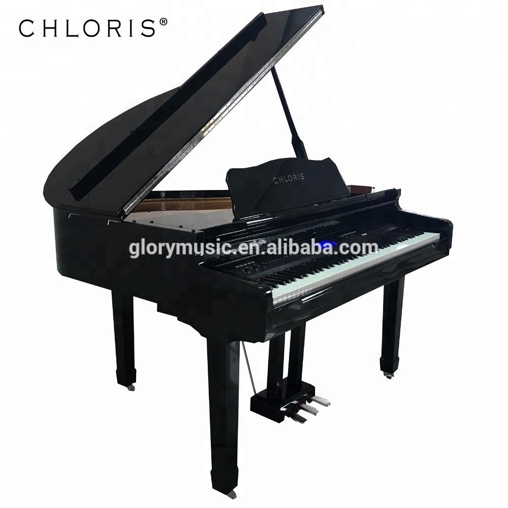 Digital Baby Grand Piano >> Chloris Keyboard Musical Instruments 88 Keys White Baby Grand Piano