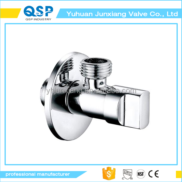 Brass Quarter Turn Angle Valve IPS or BSP Inlet and Outlet, Polished Chrome