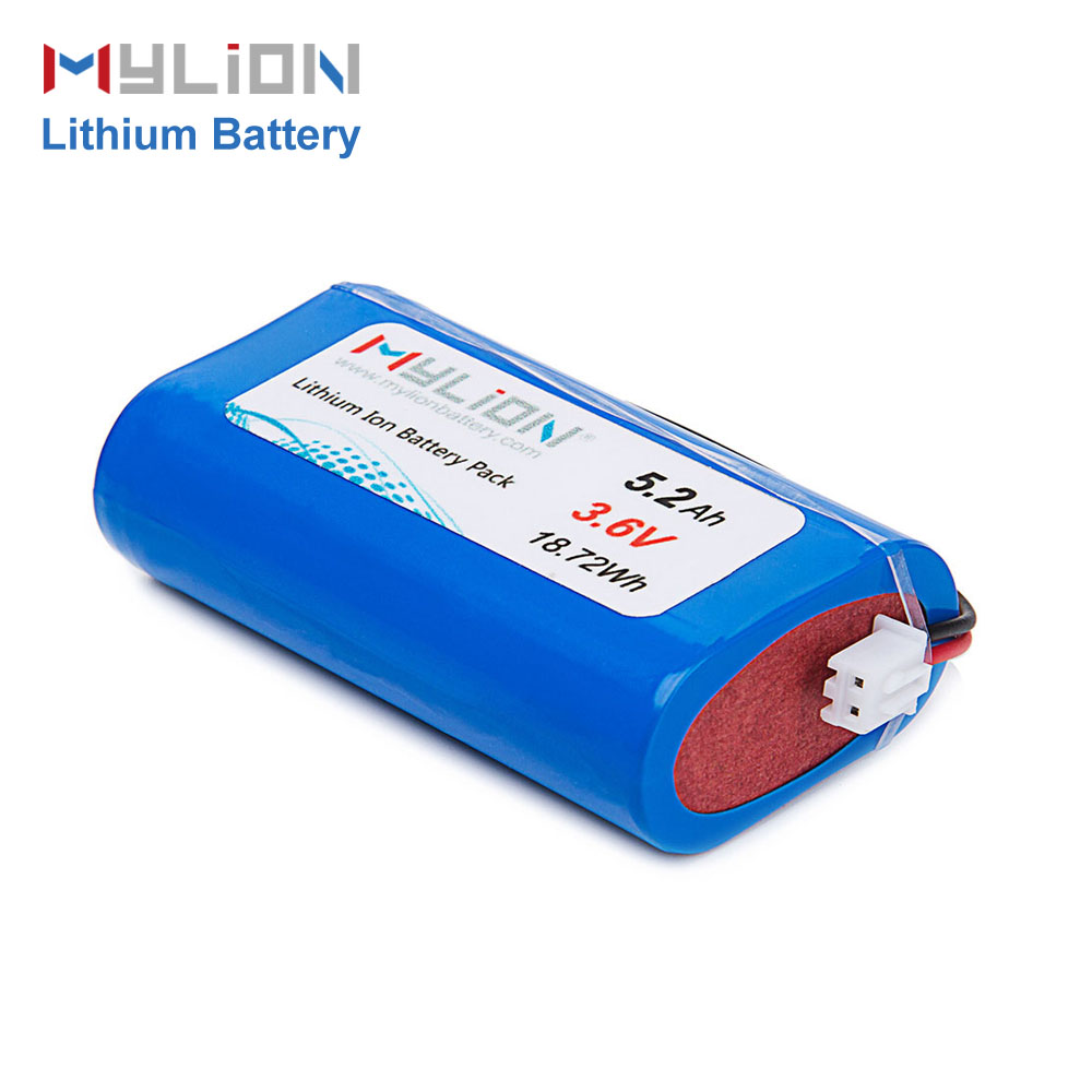 Hot sale Li-ion18650 external Battery Pack 3.6V 5.2Ah with BMS for over-charge, over-discharge