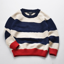 2018 New Design All Cotton Baby Boys Striped Knitwear Sweater For Kids