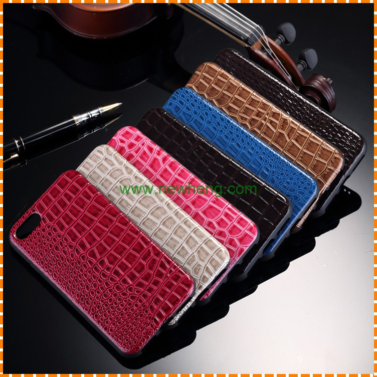 New fashion leather cell phone case for iphone7 crocodile embossed leather mobile case for iphone 7plus wholesale