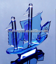 Excellent quality crystal ship model