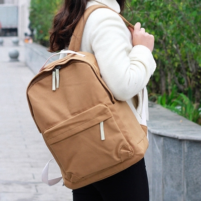 wholesale teens fashion blank plain canvas backpack