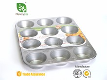 Steel 12 Big Cup Jumbo Muffin Tray round cake pan